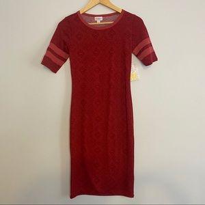 NWT LuLaRoe LLR Red Julia Knit Dress 00-0 XXS
